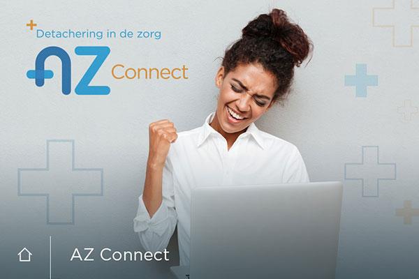 Wordpress Websites, huisstijl en drukwerk AZ Connect